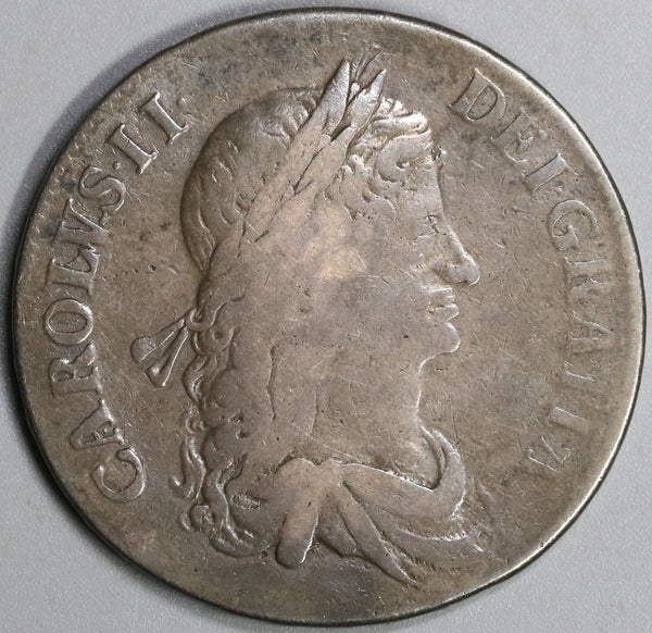 1663 Charles II Crown England Great Britain Silver Coin (19060803R)