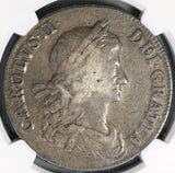 1663 NGC VF 20 Charles II Crown Rare No Rx Stops Great Britain England Coin (19071901C)