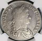 1663 NGC VG 10 Charles II Crown Great Britain England Edge XV Coin (20022301D)