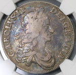 1666 NGC VF 20 Charles II Crown London Fire Great Britain England Pedigree Coin (19081001C)