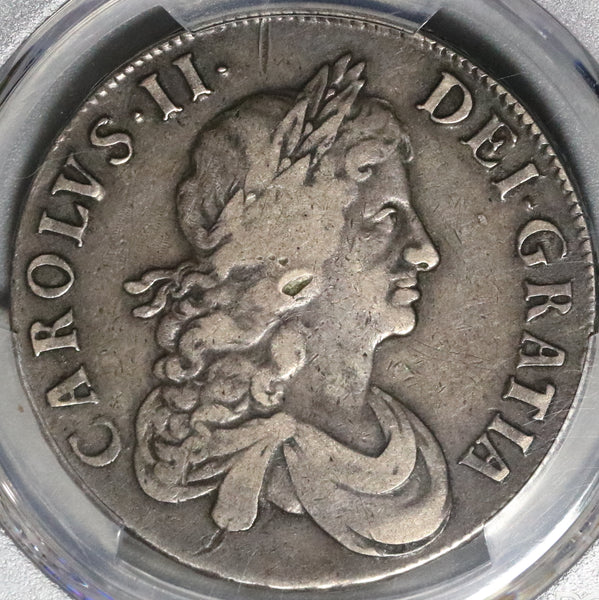 1668 PCGS VF Det Charles II Crown England Great Britain Silver Coin (20041302C)