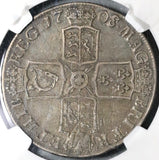 1708/7-E NGC VF 30 Anne Crown Great Britain Silver Coin POP 1/0 (17021105CZ)