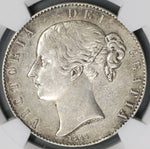 1844 NGC AU Det Victoria Crown Great Britain Silver Coin (18111101C)