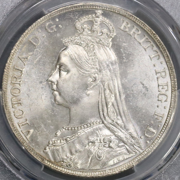 1891 PCGS MS 62+ Victoria Crown Great Britain Silver Coin (19080201C)