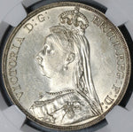 1892 NGC MS 62 Victoria Crown Great Britain Jubilee Silver Coin (20121702C)