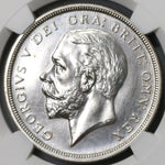 1927 NGC PF 64 Wreath Crown George V Great Britain Proof Silver Coin 15k (18112501C)
