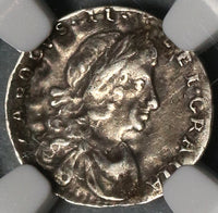 1683 NGC VF 30 Charles II Penny Rare Mint Error Great Britain England Silver Coin (19123101C)