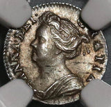 1709 NGC MS 62 Anne Penny Great Britain England Silver Coin POP 1/0 (20012102C)