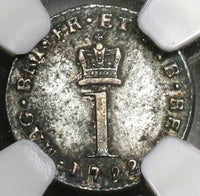1792 NGC XF 40 George III Great Britain Penny Wire Money Silver Coin (19121902C)