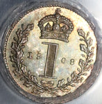 1908 PCGS PL 65 Edward VII Penny Maundy Proof Like Great Britain Coin (20021803C)