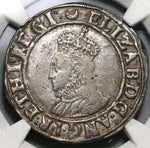 1587 Elizabeth I Shilling England Great Britain Hammered Silver Coin NGC VF Details (19101502C)
