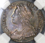 1736/5 NGC AU 55 George II Shilling Plumes Roses Great Britain R2 Coin POP 1/2 (19060901C)