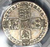 1758 PCGS MS 63 George II Shilling Great Britain Silver Mint State Coin (17011704D)