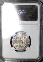 1787 NGC AU 58 George III Shilling Hearts Great Britain Silver Coin (20091904C)
