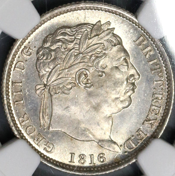 1816 NGC MS 65 George III Shilling Great Britain Silver Coin (18070503C)