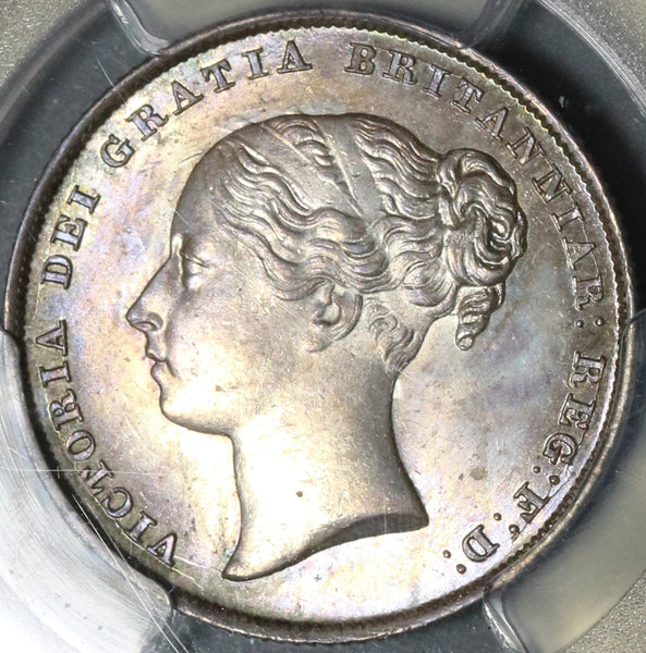 1844 PCGS MS 64 Victoria Shilling Great Britain Silver Mint State Coin (18011704D)