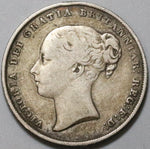 1848/6 Victoria Shilling Great Britain Key Date Silver Coin (19120201R)