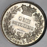 1852 NGC MS 63 Victoria Shilling Great Britain Mint State Silver Coin (20050503C)