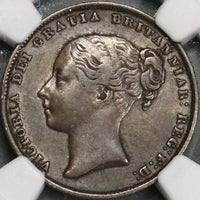 1862 NGC XF Victoria Shilling Great Britain Key Date Silver Coin (18061803C)