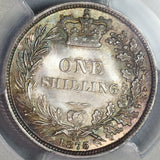 1875 NGC MS 65 Victoria Shilling Great Britain Die 53 Silver Coin (19092801C)
