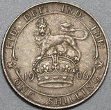 1906 Edward VI Shilling Great Britain XF  Lion Sterling Silver Coin (20082903R)