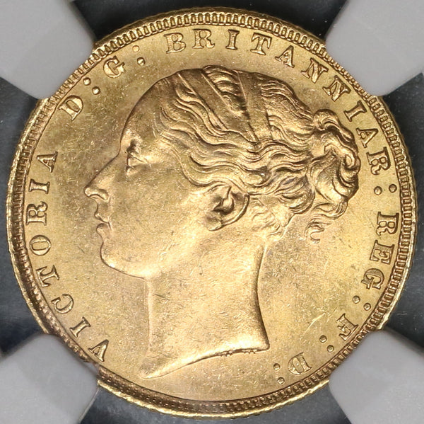 1872 NGC MS 63 Victoria Gold Sovereign Great Britain St George Coin (19030801C)