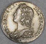 1737 George II 2 Pence 1/2 Groat AU/UNC Great Britain Silver Coin (19022302R)