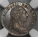1784 NGC AU 58 George III Pence Great Britain Silver Coin POP 4/2 (18062802C)