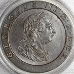 1797 PCGS MS 62 George III 2 Pence Great Britain Cartwheel Soho Mint Coin (20122001D)