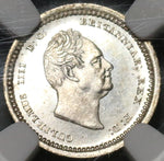 1831 NGC MS 62 William IV Great Britain 2 Pence Maundy Silver 1/2 Groat Coin (19122003C)