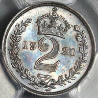 1920 PCGS PL 65 George V 2 Pence Maundy Proof Like Great Britain Coin (20020602C)