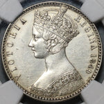 1849 NGC AU Det Victoria Gothic Florin Great Britain 2 Shillings Godless Silver Coin 20091604D