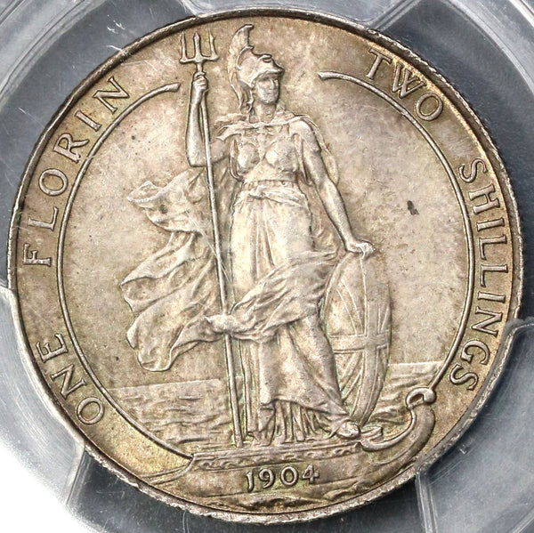 1904 PCGS MS 64 Florin Edward VII Great Britain Rare Silver Coin (19040201C)