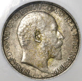 1907 NGC XF 40 Florin Edward VII Great Britain Silver 2 Shilling Coin (20021604C)