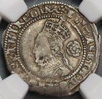 1575 NGC XF 45 Elizabeth I 3 Pence Great Britain England Silver Coin S-2566 (19091902C)
