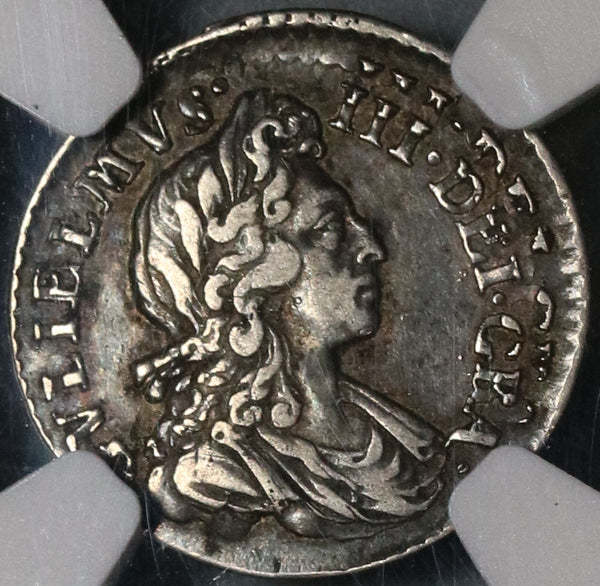 1701 NGC XF 40 William III 3 Pence Double Struck Mint Error Great Britain Silver Coin (20012402C)