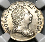 1763 NGC MS 63 George III 3 Pence  Great Britain Silver Coin (20061601C)