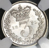 1831 NGC MS 61 William IV Great Britain 3 Pence Maundy Silver Coin (19123102C)