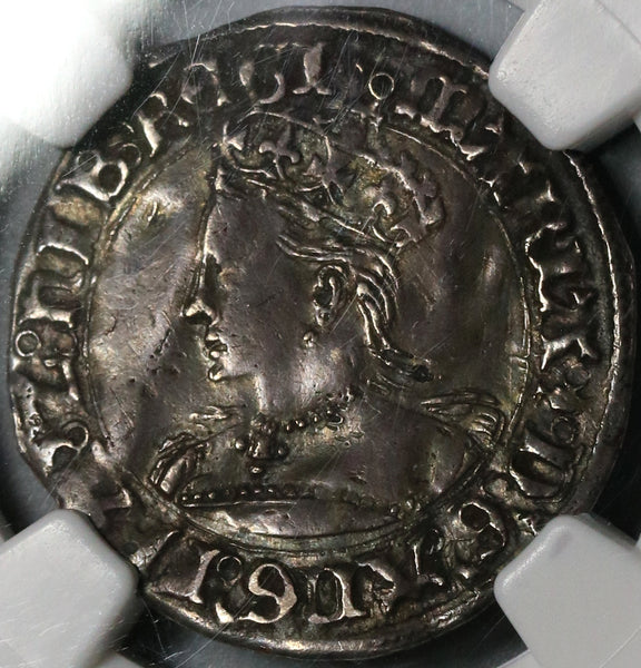 1553 NGC VF 30 Queen Mary Groat 4 Pence Great Britain England Silver Coin (19102302C)