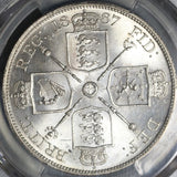 1887 PCGS MS 64 Victoria Great Britain 4 Shillings Double Florin Arabic 1 Silver Coin (17010901D)