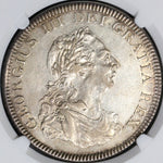 1804 NGC AU 53 George III 5 Shillings Silver Dollar Great Britain Coin (18073103C)