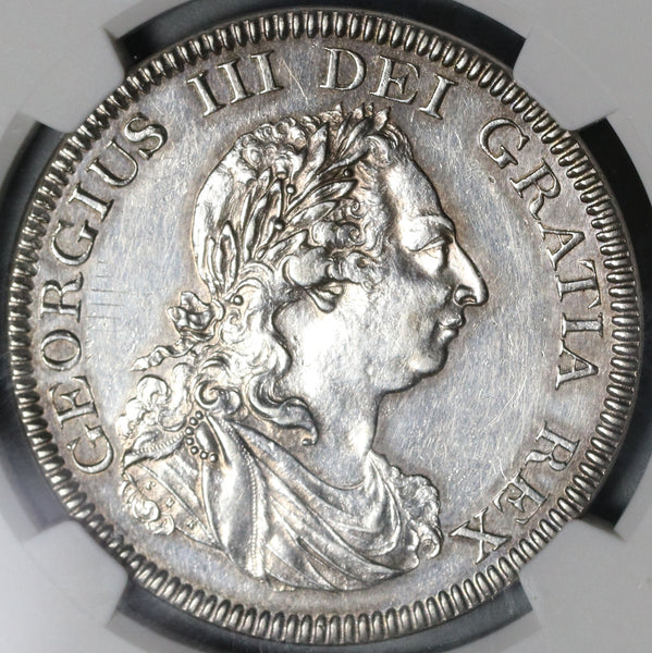1804 NGC AU Det George III Great Britain 5 Shilling Silver Bank Dollar Coin (20110401C)