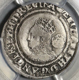 1568 Elizabeth I 6 Pence Great Britain Silver Coin PCGS VF Det (20112601C)