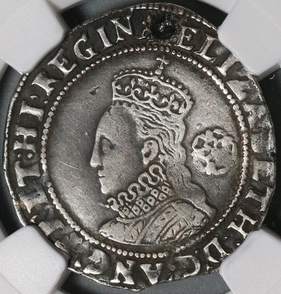 1582 Elizabeth I 6 Pence Great Britain England Silver Coin NGC VF Det Sword (21020302C)