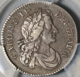 1681 PCGS VF 35 Charles II Great Britain Sterling Silver Coin S-3382 (20120702C)