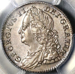 1757 PCGS MS 63 George II 6 Pence Great Britain Silver Coin (19111101C)