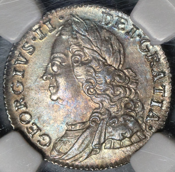 1757 NGC MS 64 George II 6 Pence Great Britain Sterling Silver Coin (18011701D)