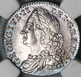 1758 NGC AU 58 George II 6 Pence Great Britain Near Mint State Silver Coin (20082001C)
