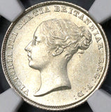 1839 NGC MS 64 Victoria 6 pence Great Britain Silver Coin (18110801C)