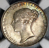 1846 NGC MS 64 Victoria 6 Pence Great Britain Mint State Silver Coin (20011403C)